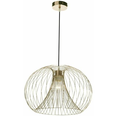 Copper, Chrome or Gold Wire Ceiling Pendant Chandelier Light Fitting