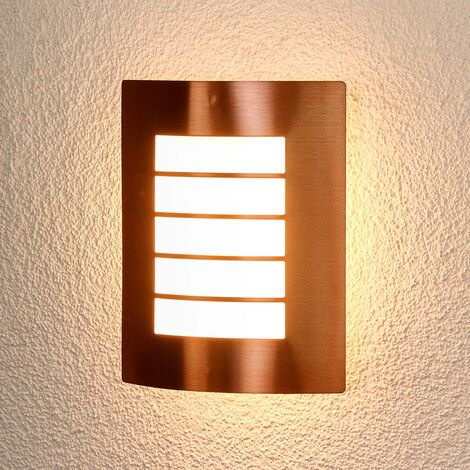 Copper-coloured outdoor wall lamp Blanka