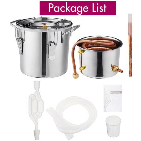 Copper Ethanol Alcohol Water Distiller 6L Moonshine Stainless Boiler