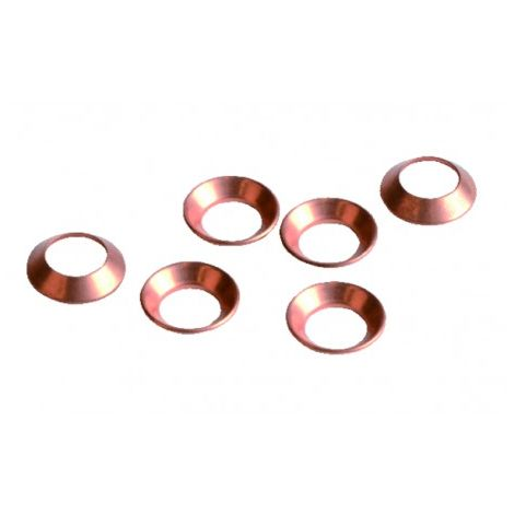 "Copper flare gasket 5/16"" (X 6)"