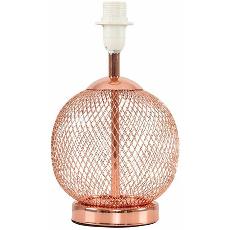 Copper Mesh Ball Touch Table Lamp Base