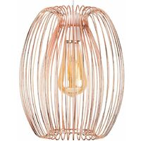 Copper Metal Basket Cage Ceiling Pendant Light Shade