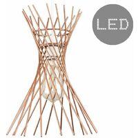 Copper Metal Wire Lattice Ceiling Pendant Light Shade - 4w LED Filament Bulb 2700K Warm White