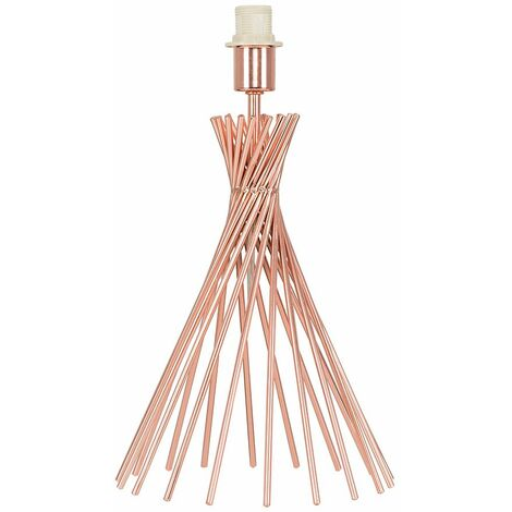Copper Metal Wire Twist Table Lamp Base