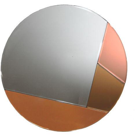 Copper Tinted Circular Glass Mirror