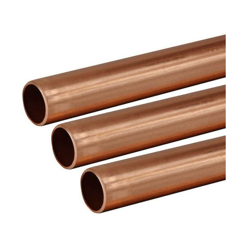 Image of Buyaparcel - Copper Tube 15mm 3 x 1m Lengths BS EN1057 R250 British Copper Pipe 3000mm 300cm