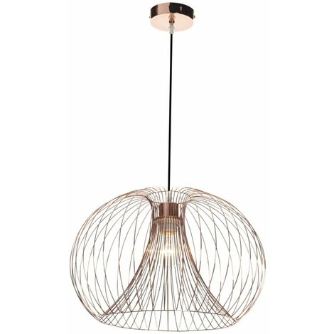 """main image of """"Modern Copper Metal Wire Lights - Table Lamp, Pendant, Shade Chandlier"""""""