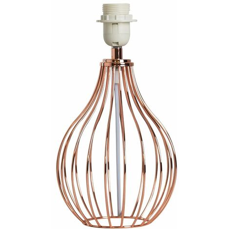 Copper Wire Basket Table Lamp Base