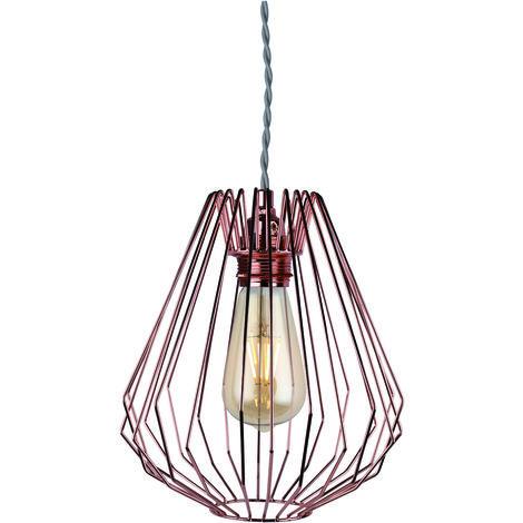 Copper Wire Geometric Ceiling Light Pendant