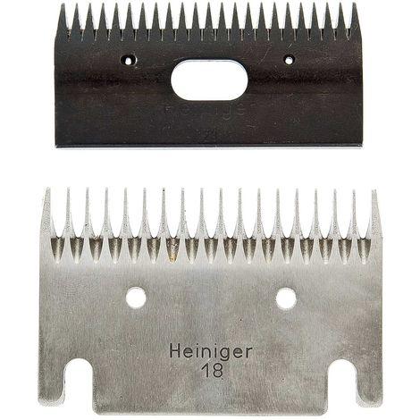 Coppia di lame per tosatrice Heiniger 18 e 23 denti per cani, gatti e cavalli