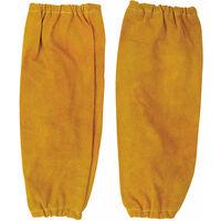 Coppia di maniche in pelle con elastici per saldatori - Portwest