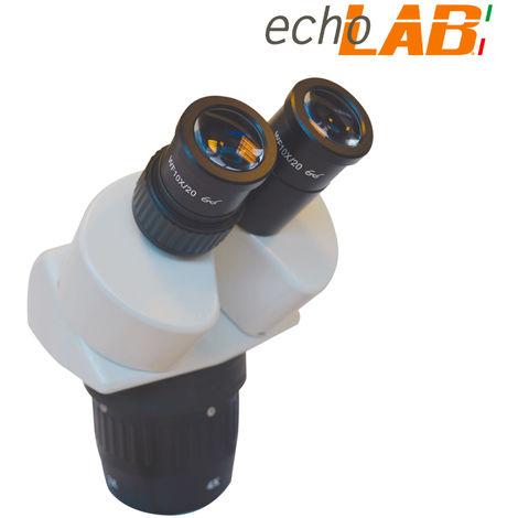 """main image of """"Coppia di teste binoculare per microscopio stereo 10x 20x echoLAB - SM 201 H"""""""