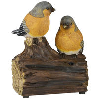 Coppia di Uccellini in Ceramica con Sensore Suono Modelli Assortiti Uccelli