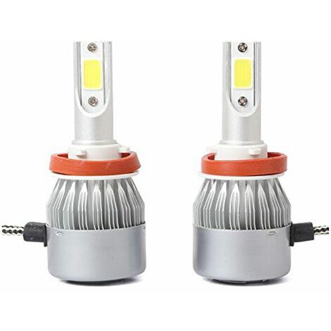 Coppia lampada lampadine led auto luce fredda 40w ricambio moto c6 h11 4800LM
