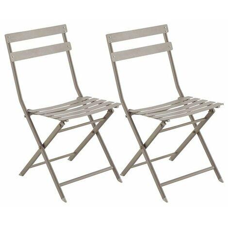 Coppia sedie mod. HEIDI Pieghevole struttura metallo colore tortora ...