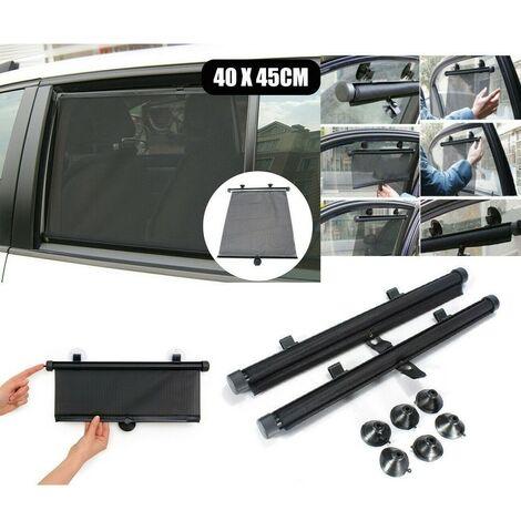 Tende Parasole Avvolgibili Per Auto.Coppia Tendine Parasole Para Sole Auto Rullo Avvolgibili Ventosa