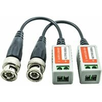 Coppia trasmettitori passivi video balun 600m utp cavo bnc cat 5 5e 6 ahd 72844467603f