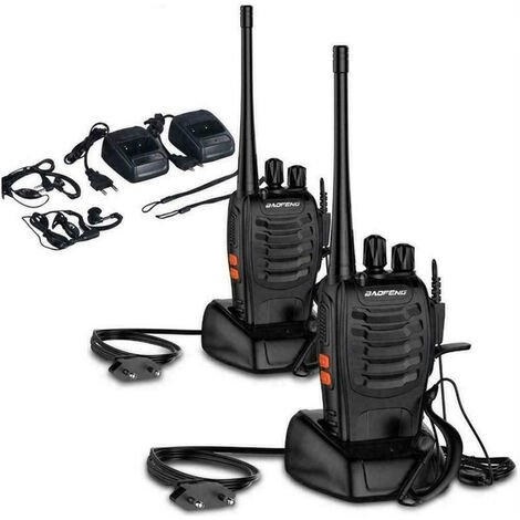 """main image of """"Coppia walkie talkie ricetrasmittente portatile baofeng 16 canali 3.7v two way"""""""