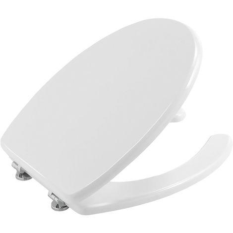Copri wc per disabili universale bianco coprivaso con apertura centrale legno