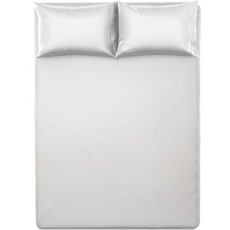Coprimaterasso Matrimoniale Relax, In Poliestere E Cotone Bianco