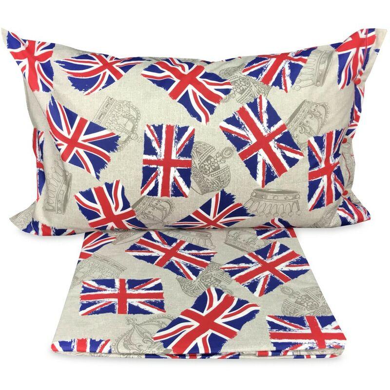 Copripiumino Bandiera Londra Inglese Dis Flag Matrimoniale 2 Piazze Cm 250x200 0631495167710