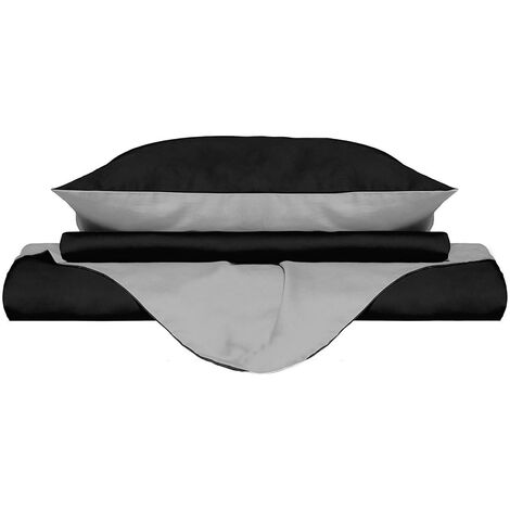 Colore caff/è e Lino 150 x 220/cm Caf/é y Lino Play Basic Collection/ /Copripiumino Double-Face a Tinta Unita