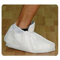 Copriscarpa in plp monouso bianco con elastico confezione 100 pz