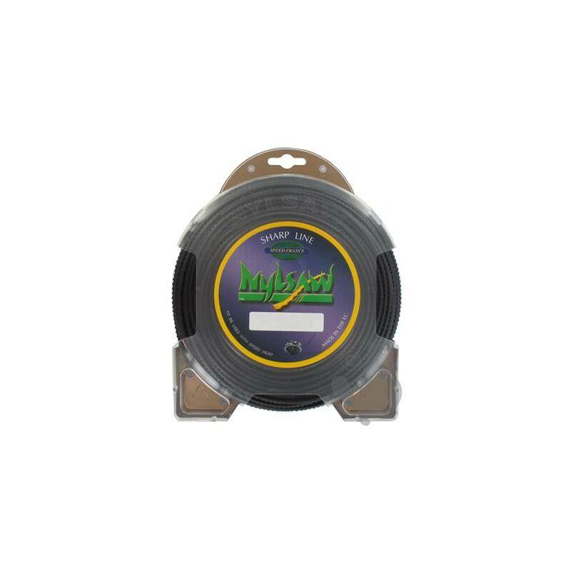 Adaptable - Fil Débroussailleuse Nylsaw Dentelé L: 37m, Ø: 3,00mm