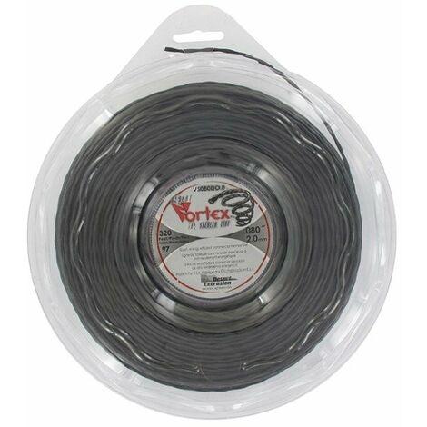 Coque fil nylon hélicoïdal copolymère VORTEX - 2.00mm x 97m - Qualité professionnelle - Fabrication américaine