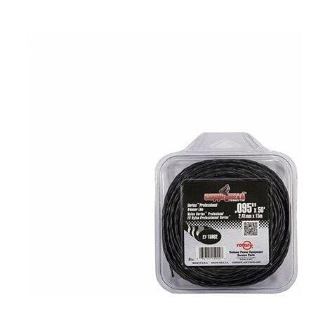 Coque fil nylon hélicoïdal copolymère VORTEX - 2.40mm x 12m - Qualité professionnelle - Fabrication américaine