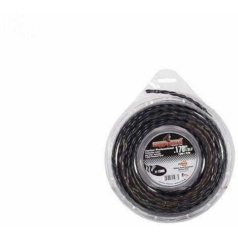 Coque fil nylon hélicoïdal copolymère VORTEX - 4.30mm x 11m - Qualité professionnelle - Fabrication américaine