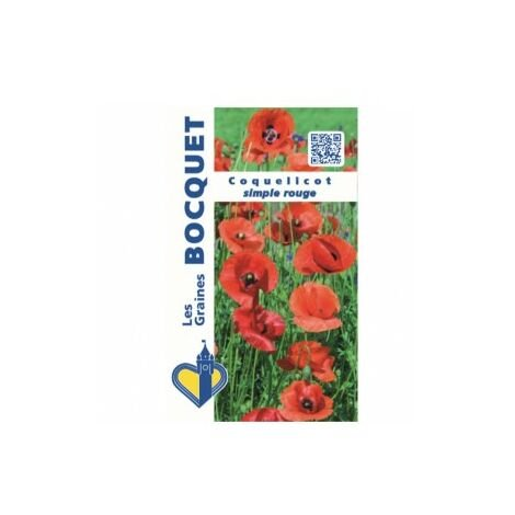 Coquelicot simple rouge - 1,5g