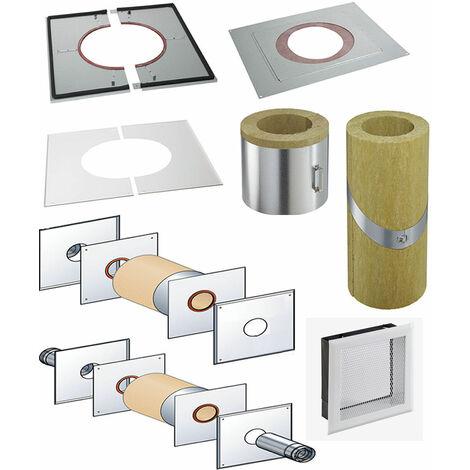 Coquille isolante Coqisol rampant pour conduit PGI Poujoulat 150 mm 0 à 40 % Poujoulat