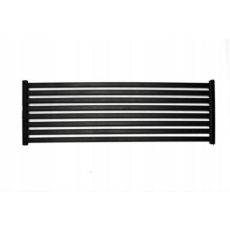 CORA - Radiateur design horizontal eau chaude chauffage central 50x120cm 723W Acier Entraxe 50mm - Radiateur décoratif tendance - Noir