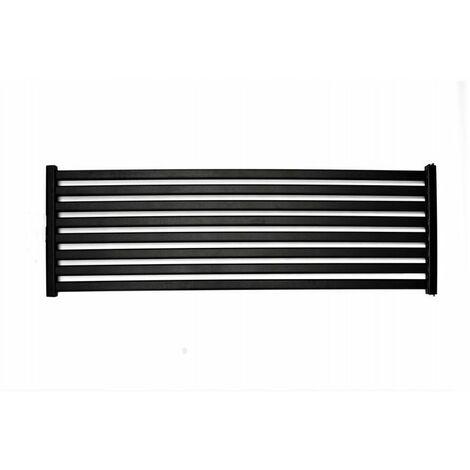 CORA - Radiateur design horizontal eau chaude chauffage central 50x150 cm 830W Acier Entraxe 50mm - Radiateur décoratif tendance - Noir