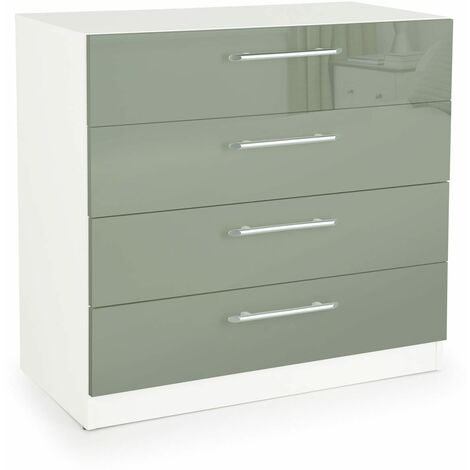Coral Gloss Quality Bedroom 4 Drawer Chest - Variety Of Colours