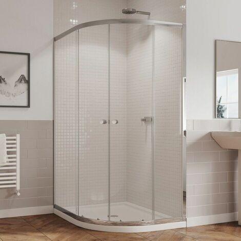 Coram 1000 800 Right Hand Offset Quadrant Shower Enclosure 5mm Glass Chrome