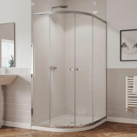 Coram 1200 800 Left Hand Offset Quadrant Shower Enclosure 5mm Glass Chrome