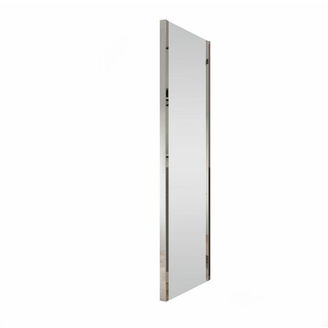 Coram 800mm Glass Side Panel Screen Shower 4mm Safety Glass Chrome Adjustable