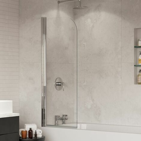 Coram Curved Edge Shower Screen - 550mm Width (SFR55CUC)