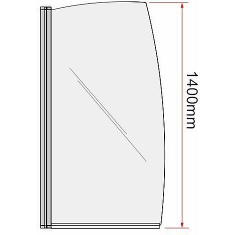 Coram Curved Edge Shower Screen - 800mm Width (SFR80CUC)