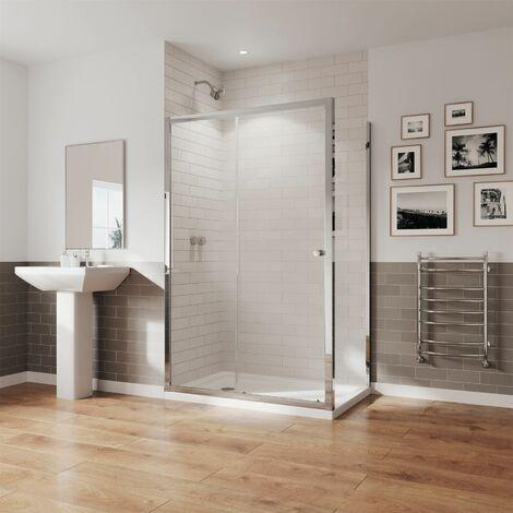 Coram GB 5 Sliding Door Shower Enclosure Side Panel 1200 x 800 Easy Clean Glass