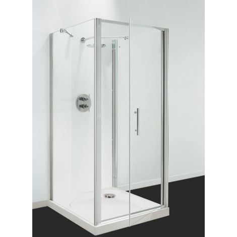 Coram Showers 760mm Optima Pivot Door, Chrome, Plain Glass OPI376CUC COLLECTION ONLY