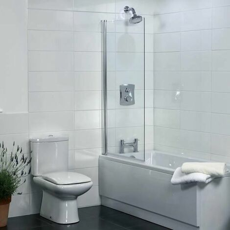 Coram Square Edge Shower Screen - 800mm Width (SFQ80CUC)