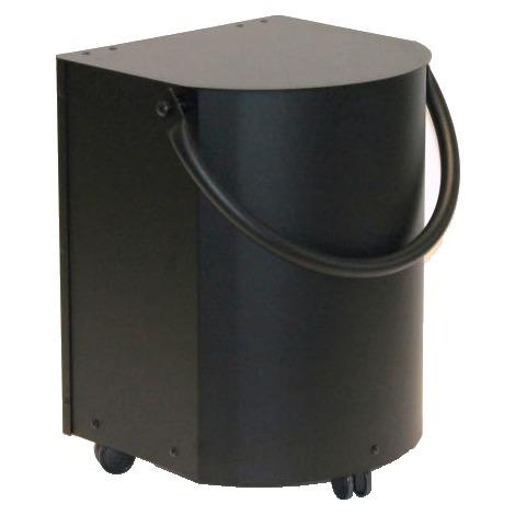 Corbeille à bois ou à pellets noir sur roulettes - Volume : 20 kgs