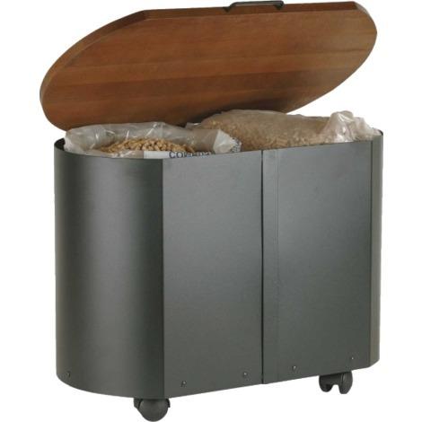 Corbeille à bois ou à pellets sur roulettes - Volume : 40 kgs