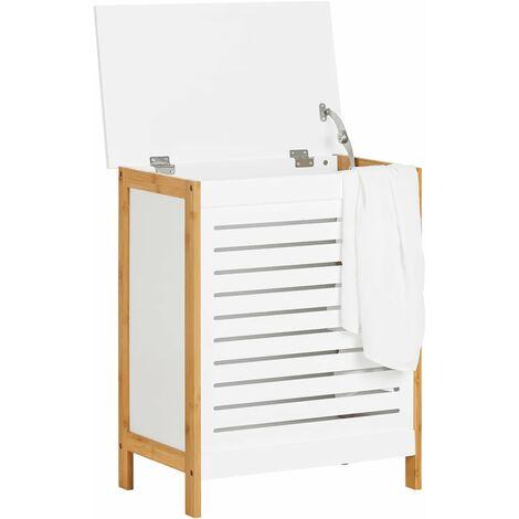 Corbeille linge coffre linge porte v tement pour - Coffre de salle de bain ...
