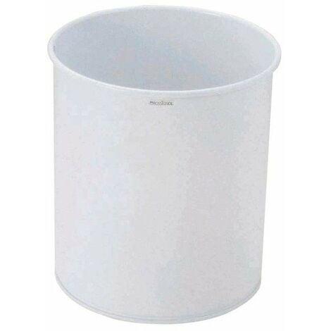 Corbeille a papier en acier epoxy 15 l - blanc - diam. 270 x300 mm
