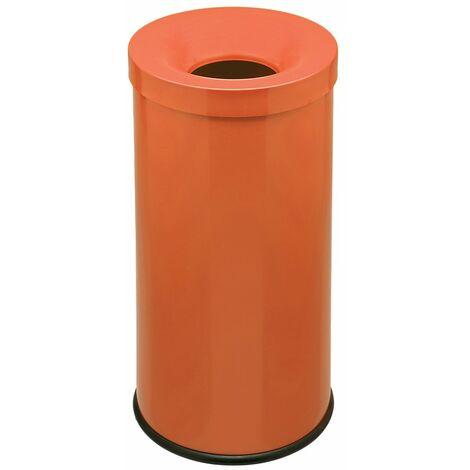 Corbeille anti-feu coloré | acier peint époxy | orange | 50 litres | 335x585 | Cocorito | medial