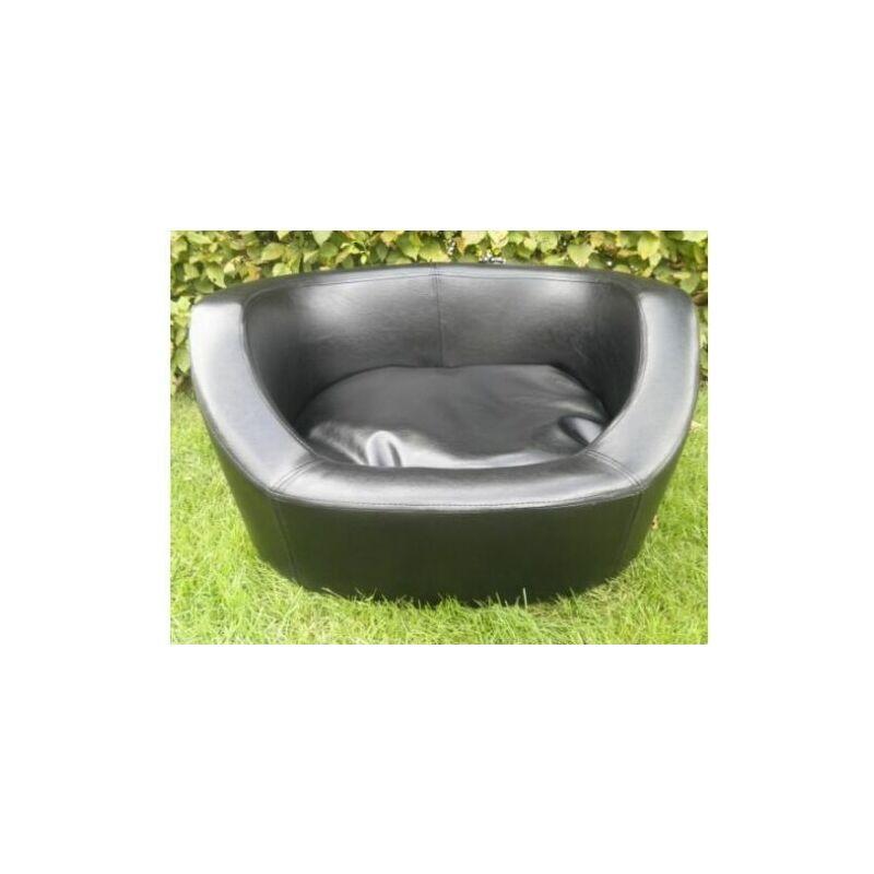 MercartoXL Corbeille et panier pour chien canapé-lit à quai en faux cuir pour chiens et chats L 66 cm